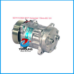 Universal air conditioning compressor Sanden SD7H15 8022 ROT Horizontal 119mm 8G 12V