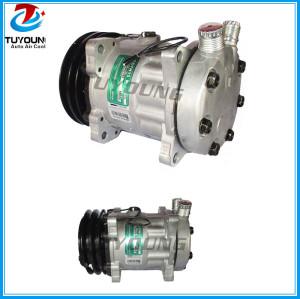 7h15 Universal vehicle ac compressor s8220 8024 7863 8220 2pk 12V 132MM car a/c pump