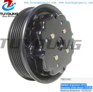 6PK 115 mm 7SEU16C ac compressor clutch fit MERCEDES-BENZ 447170-0090 0002306411 447150-0060 A0012300811