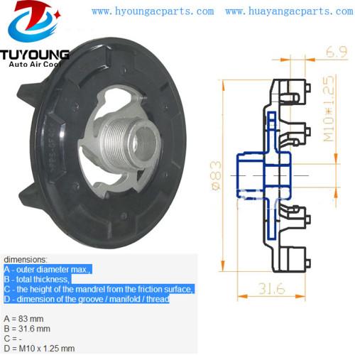 5SL 5SE car ac compressor clutch hub Toyota Avensis Corolla RAV OPEL Combo Corsa 93190812 447190-5041 88310-42250