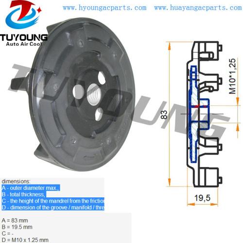6SEU 7SEU 5SL 5SE auto AC Compressor clutch hub BMW 335d 520i 535d Audi A4 A6 A8 MERCEDES-BENZ A0022304811 0012309111 0022304811