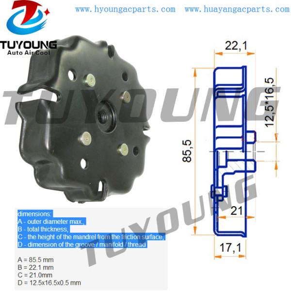 6SEU 7SEU air compressor clutch disc VW Touareg AUDI A4 A6 Mercedes-Benz C180 CLK320 E320 Vito 7H0820805H 3D0820805G 447180-8620 447220-9030