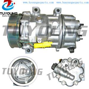 7C16 Auto aircon ac compressor for Citroen C4 Peugeot 6453RV 6453RW 6453TL 8FK351316-371 8FK351316371