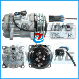 Auto AC 7H15 Compressor FOR Sanden 4821 4472 Freightliner ABPN83-304133 2pk 132mm