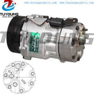 SD7V16 Auto a/c compressor Ford Seat Volkswagen 120MM PV6 12V YM2H19D629BA 7M3820803 7M3820803