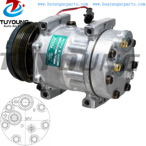 SD7H15 Car ac Compressor Case New Holland 87709785 87802912 112MM PV4 12V