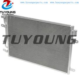 fit Audi A4 A4 Quattro 1.8L 3.0L auto air conditioner condenser 8E0260403D 8E0260401D Size 610*405*25.4 mm