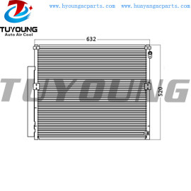 Auto ac condenser fit Toyota Prado KZJ120R Diesel 8/04- OE# 88461-60100 size 632*520 mm