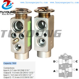 auto air conditioning expansion valve Capacity 7kw Block ac expansion valve