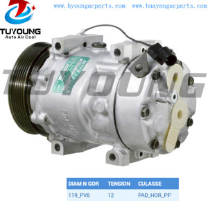 SD7V16 automotive air conditioning compressor 30805511 For Renault Megane Classic 1.9 dT 1996 - 1998
