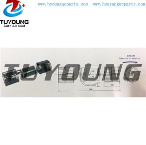 auto ac blower motor test voltage: 27V/13.5A ,Static pressure 100 pa