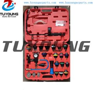 Auto ac detection tools, Pressure tester for cooling system and radiator filler plugs, diagnostics of head gasket, diagnostic tools