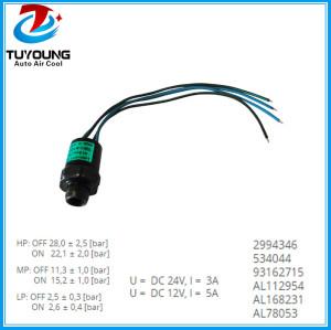 auto ac pressure switch fit John Deere Series 2994346 534044 93162715 AL112954 AL168231 AL78053