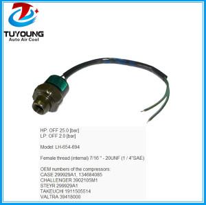 2 Pins R134a auto ac pressure switch 299929A1 134684085 3902105M1 1911505514  39418000