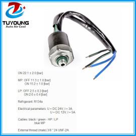 4 Pins R134a Car air conditioning pressure switch, auto ac pressure valve / pressure sensor