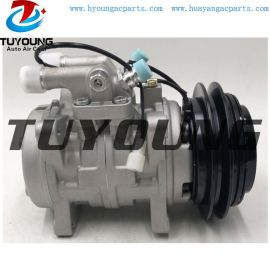 10P15 auto air conditioning compressor Fit John Deere New Holland Valtra T-180 Tractor air pump 130mm 1pk ( or 8pk ) 24v
