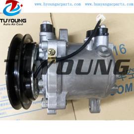 Car ac compressor sv06e Kubota 155 447260-5351 auto air conditioning compressor