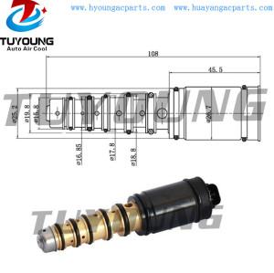 fit Toyota Camry Corolla 2006-2009 Denso 6SEU12V 6SEU16C auto ac compressor control valve