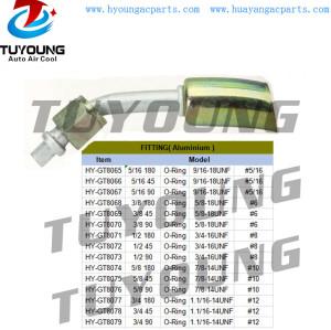 auto aircon ac fitting Aluminium O-Ring #5/16 #6 #8 #10 #12