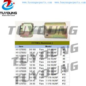 auto air conditioner fitting Aluminium Flare #6 #8 #10 #12