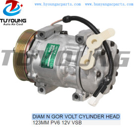 SD7V16 auto ac compressor Citroen C5 C8 Jumpy Lancia Peugeot 206 406 607 807 9626902180 6453CL 71721765