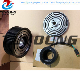 SD7H15 8275 Auto ac compressor clutch with plugs 10PK 124 mm 24V Bearing size 35x55x20mm 1531196 1888032