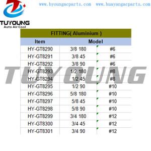 auto ac system fitting Aluminium #6 #8 #10 #12