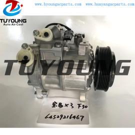7SEU17A car air conditioning compressor bmw X3 f30 64529216467 447150-2622 DCP05097 64529216467-02 9216467