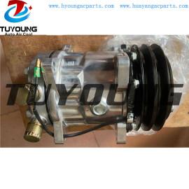 Sanden 7h15 12v 2pk vertical O Ring vehicle air conditioner ac compressor