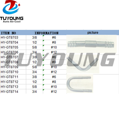 Car air conditioning fitting Aluminium #6 #8 #10 #12