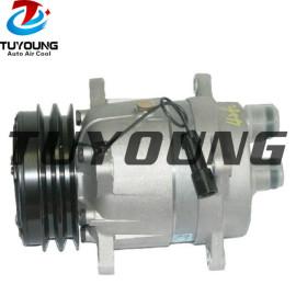 V5 Auto a/c compressor fit KOMATSU LANDINI SOILMEC 6553634 3557862M91 3552611M91 2PK 132MM 12V