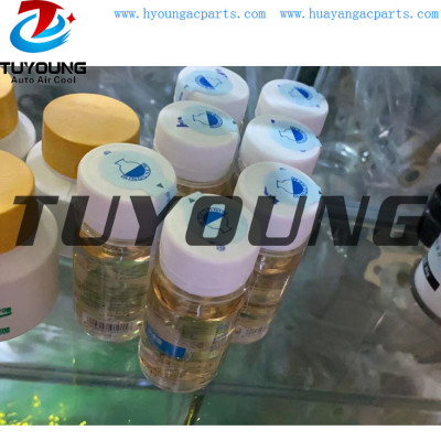 Auto ac fluorescent oil, detect gas leakage of compressors , auto air conditioner compressor fluorescent oil