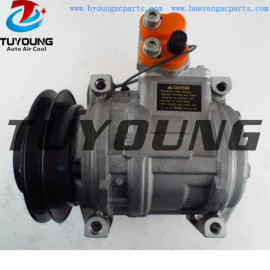10PA15CH auto a/c compressor for Fendt CLAAS RENAULT AGRI 7700038094 1PK 12V