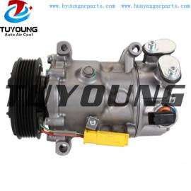SD6C12 auto a/c compressor for Citroen C4 DS4 DS5 Peugeot 308 508 RCZ 9671451180 9824287280