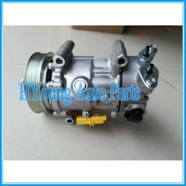 SD6C12 auto a/c compressor for PEUGEOT 307 1.4 2003- 9670318880 9659875780 9671216280 6453WK 6453WL