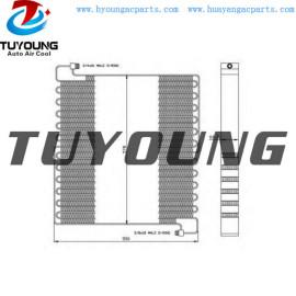 Auto A/C Condenser for Volvo truck VOE11007249 VOE11007721 11007249 11007721 size 510* 575* 65 mm