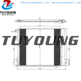 auto a/c condenser fit MAN truck 81619200036 81619200024 Size: 655* 275* 14.4 mm