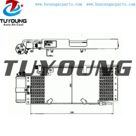 auto ac condenser for DAF CF 65 75 85 2000- 1356366 1342025 size 555*250*38 mm