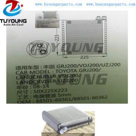 Auto ac evaporator for Toyota Landcruiser VDJ200 UZJ200 88501-60390 88501-60361 Size 50*225*223 mm