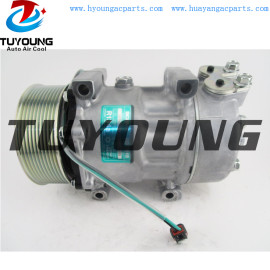 Sanden 7H15 auto ac compressor for Scania Trucks 1531196 10570608 570608 1888032 890022 32705 8FK351119381
