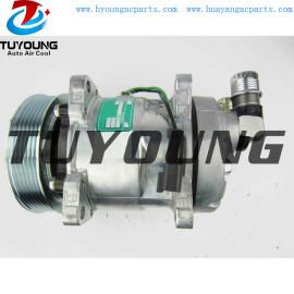 Sanden SD5H11 6362 A/C Compressor for Skid Steer Loader S630 S650 S750 T630 T650 7023580