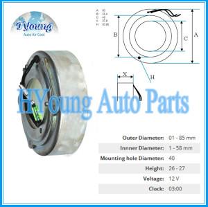 MSC Auto ac compressor clutch coil for MITSUBISHI size 83*55.4*40*27.8MM