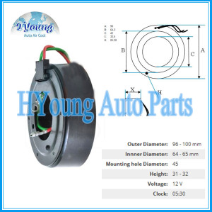HS-110R Auto ac compressor clutch coil for Honda CRV size 96*64.3*45*32.5MM