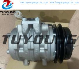 10P08E Auto AC Compressor for Kubota Tractor 447200-7440 4472007440 T0070-87290 T007087290 12V