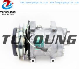 AC Compressor Sanden SD7H13 for KOBELCO KOMATSU TDKR151310S YX91V00001F2 TDKR151350S LC91V00001F1
