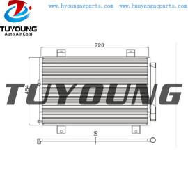 Auto ac condenser for Toyota Highlander Kluger 3.5L 88460-48100 8846048100 Size 746*441*16 mm