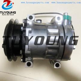 Caterpillar Kobelco excavator auto air conditioning compressor SD7H13 8955 125mm 24v 1pk yt91v00001f1