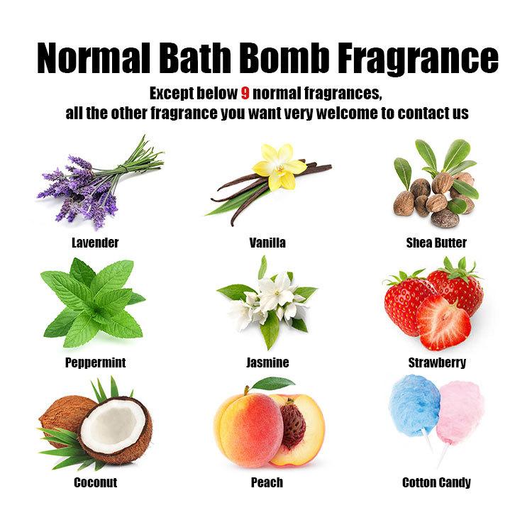 boîte de marque privée bombes de bain