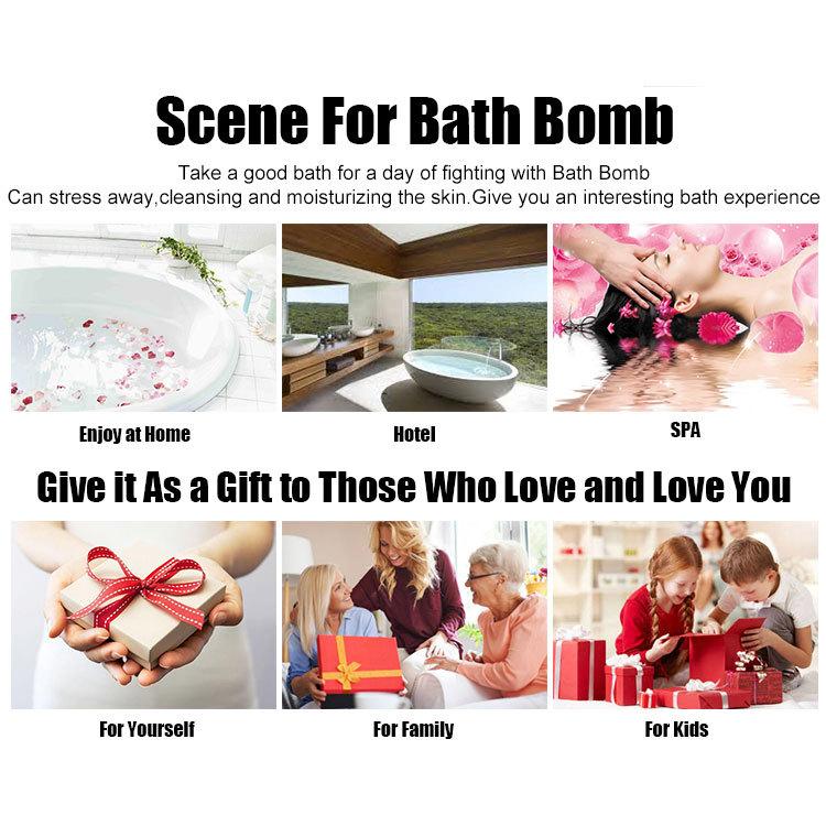 bombes de bain à la main