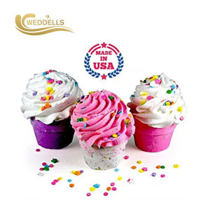 Bombe de bain cupcake Weddells avec emballage personnalisé